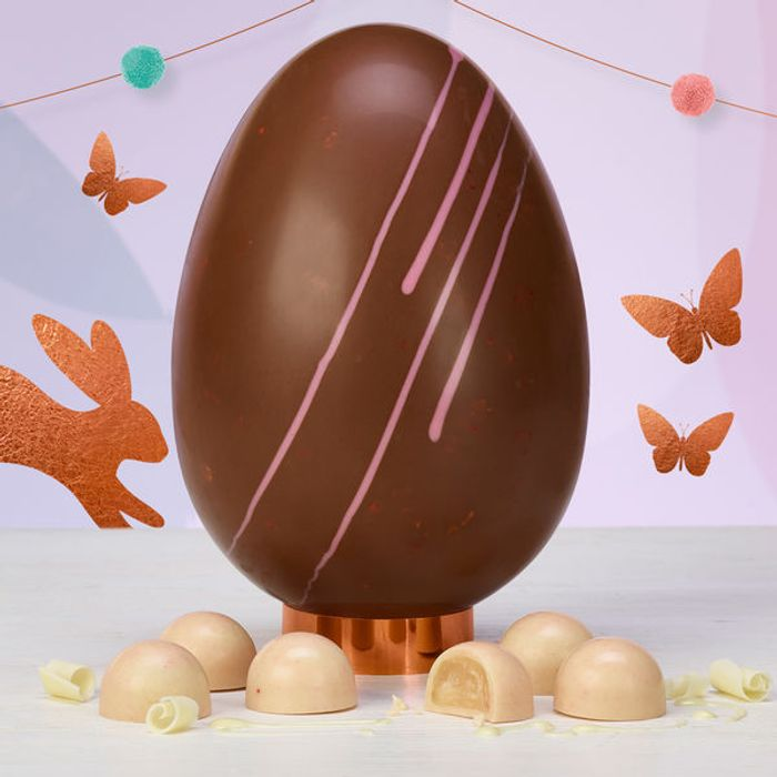 Strawberry and Prosecco Easter Egg