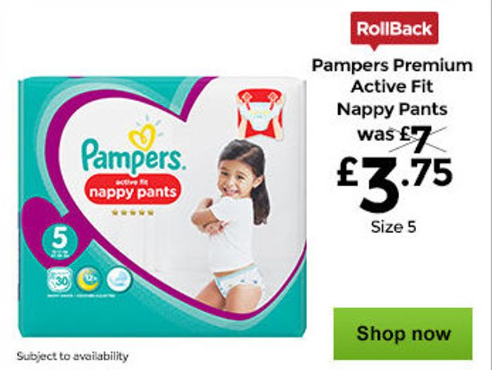 Asda Baby Event - Half Price Pampers