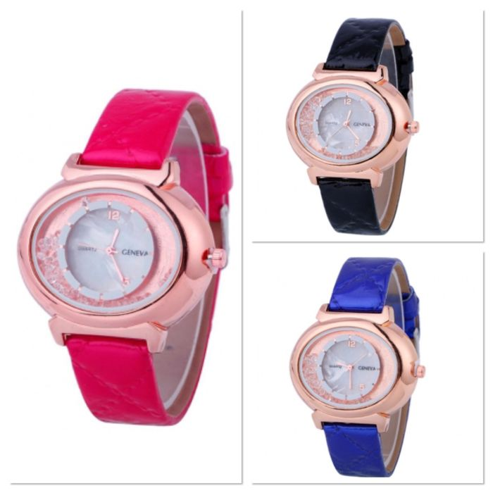 FREE Geneva Crystal Watch - Fuschia, Blue or Black