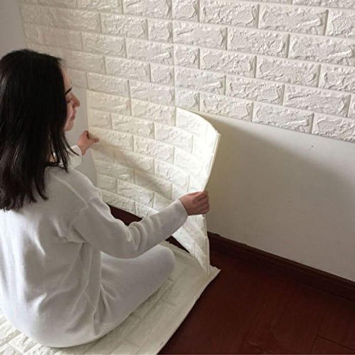 Indexp 3D DIY PE Foam Tile Brick Stone Wallpaper