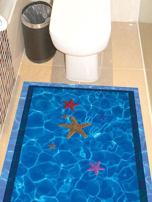 3D Floor Stickers for Kitchen or Bathroom!