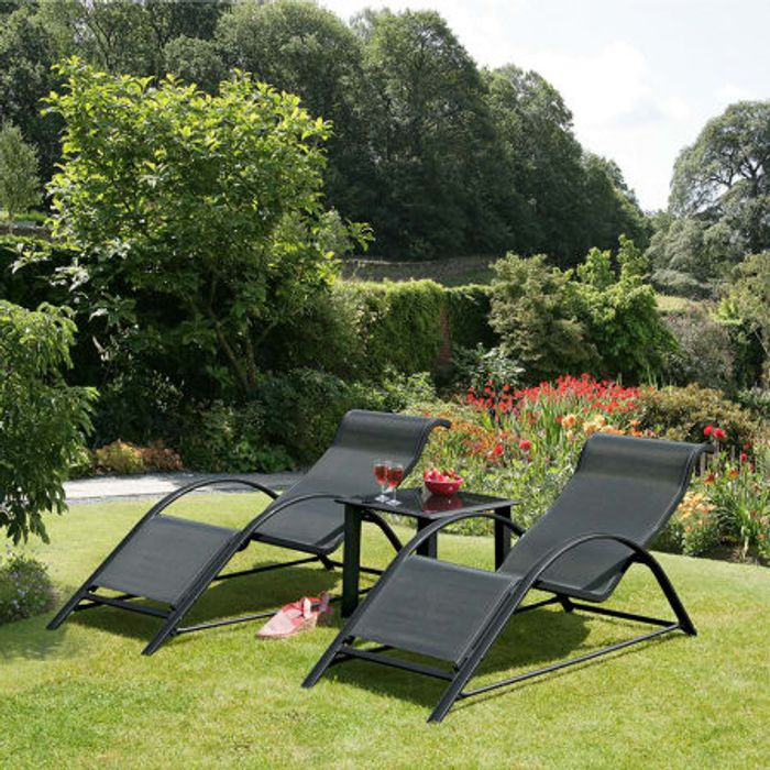 Alpine Sunloungers and Table Set