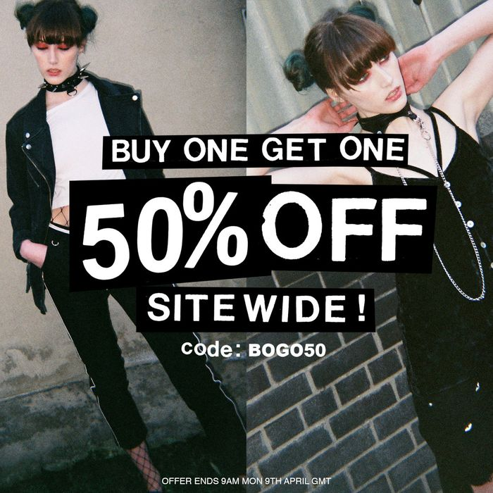 Buy One, Get One 50% off SITEWIDE!