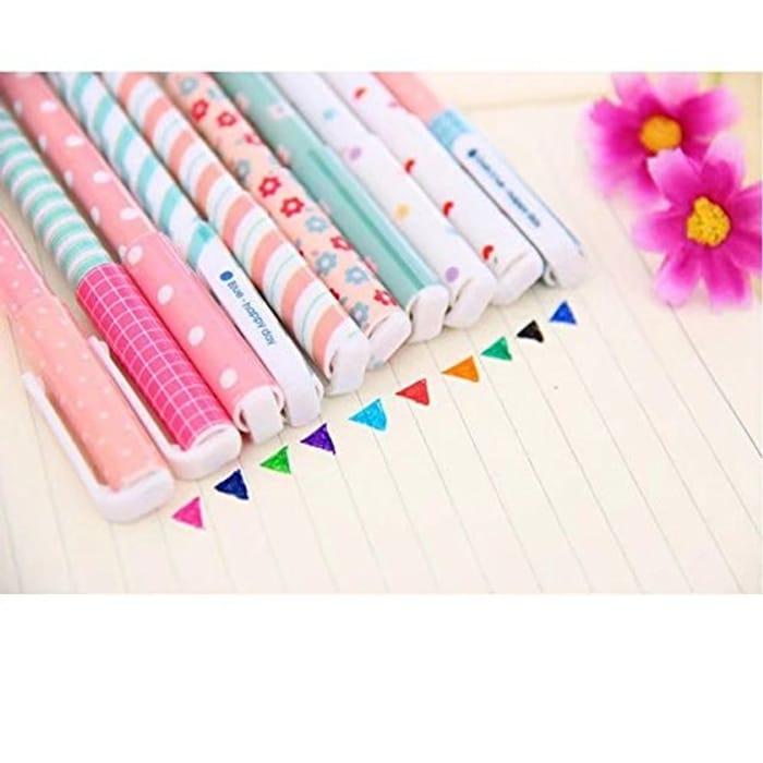 MERSUII 10 Pcs Multi Colors Colorful Gel Ink Pen