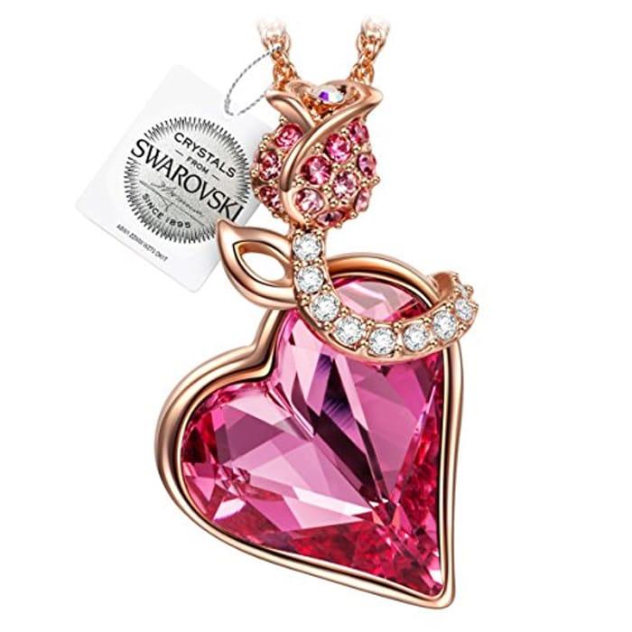 SWAROVSKI Rose Heart Necklace