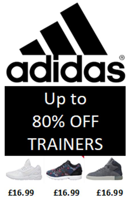 Cheap ADIDAS TRAINERS - from £16.99 - up to 80% off DEALS
