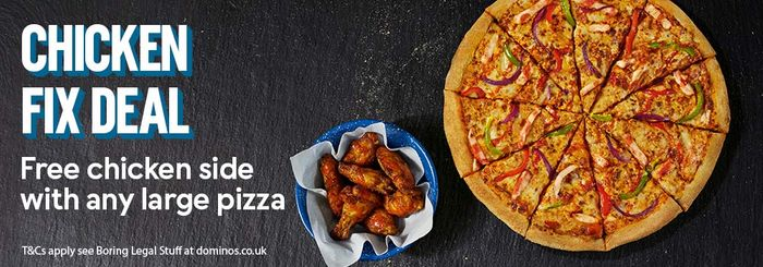 Nationwide: 25% off Orders over £20 at Domino's Pizza