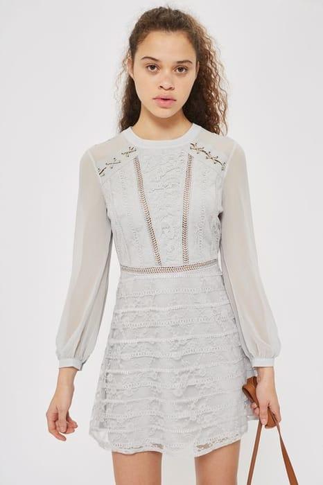 Lace up Shoulder Mini Dress