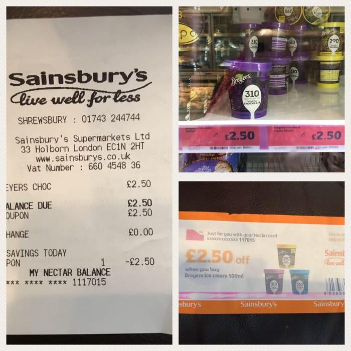 Free Ice Cream With Nectar Voucher At Sainsbury S Latestdeals Co Uk