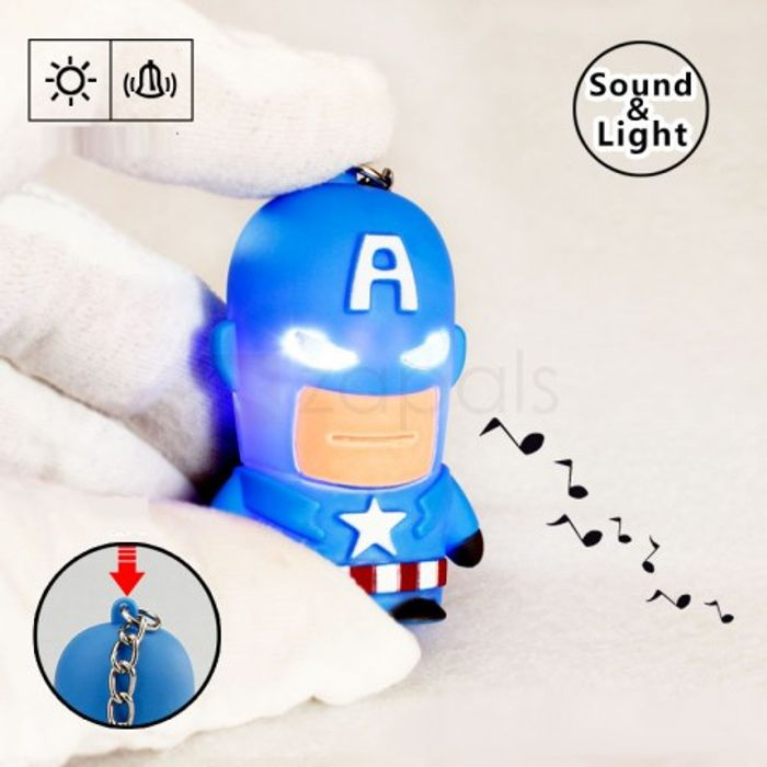 Captain America LED Glowing Keychain with Sound from Zapals (P&P Applies)