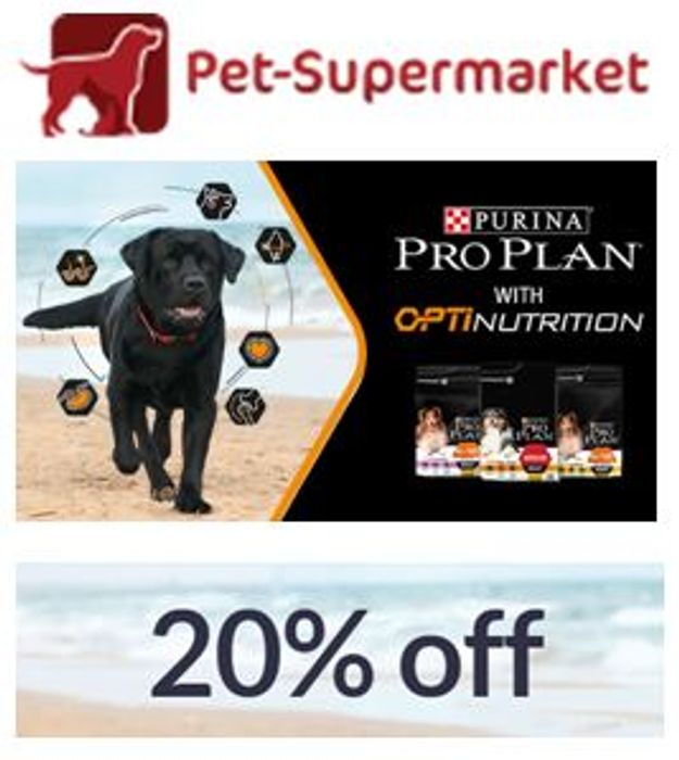 20% off Purina Pro Plan with OptiNutrition