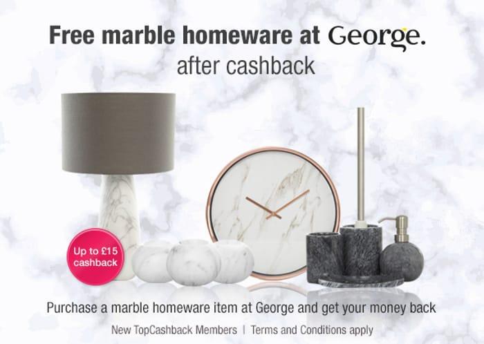 Marble Tealight Holders from George (Via Topcash Back)