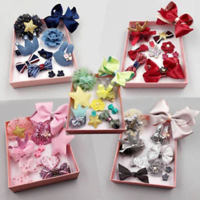 Girls 10pcs/ Hair Clips Bows