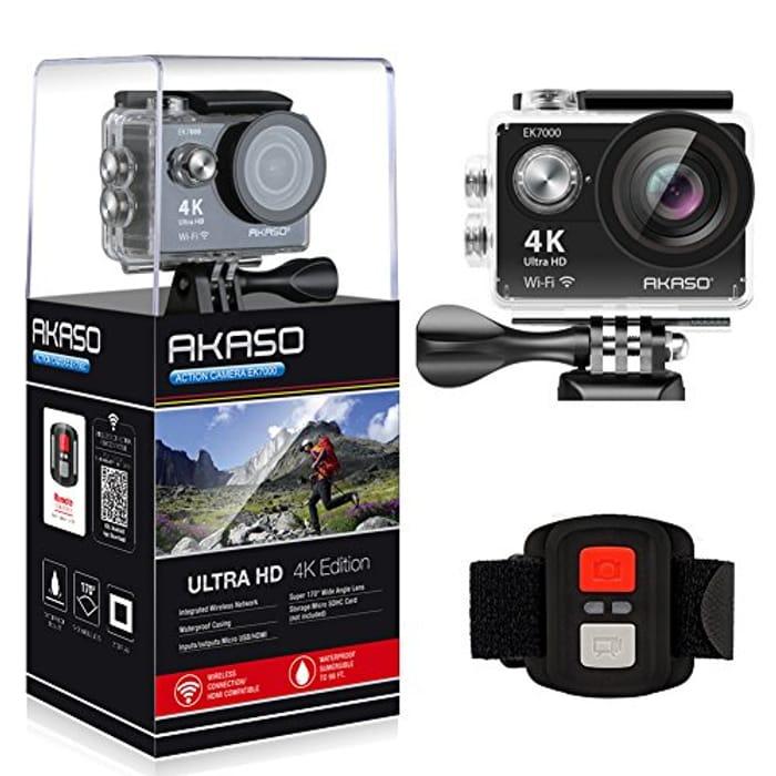 AKASO EK7000 4K Sport Action Camera Ultra HD Camcorder 12MP WiFi