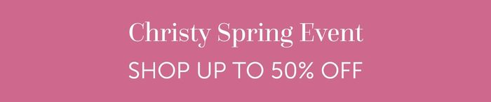 Up to 50% off at Christy