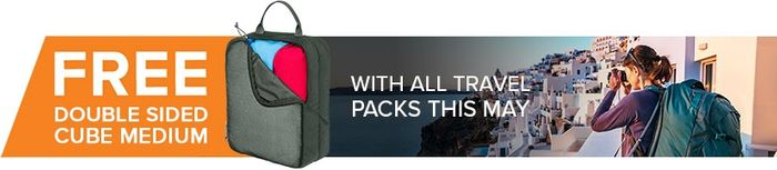 FREE Double Sided Cube Medium with All Travel Packs in MAY