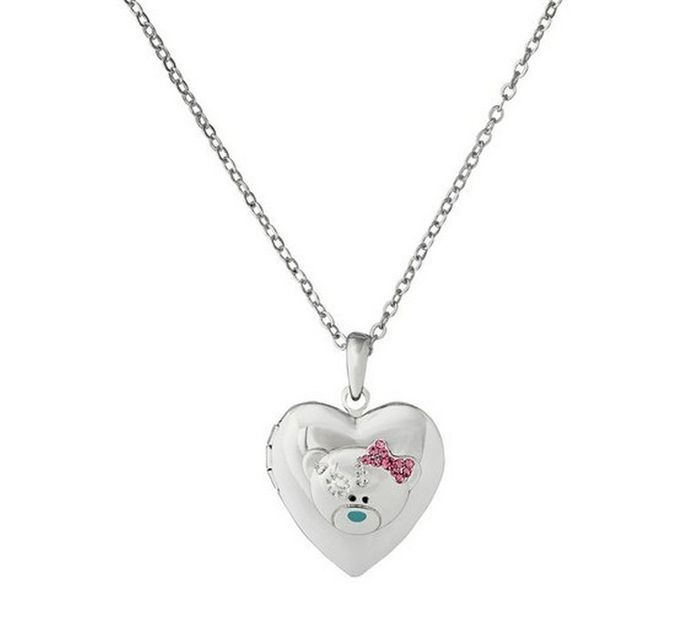 Me to You Tatty Teddy Crystal Heart 2 Photo Locket