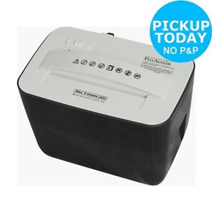 ProAction 8 Sheet 4.5 Litre Cross Cut Desktop Shredder at Argos/ebay
