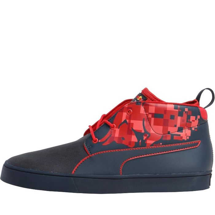Puma Mens F1 Red Bull Racing Bulls Desert Boots Eclipse/Chinese Red