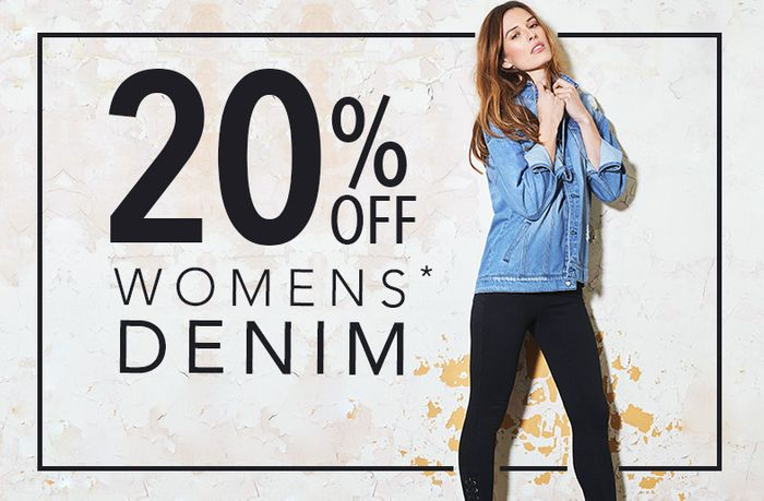 20% off Women's Denims (+ 25% off for Students)