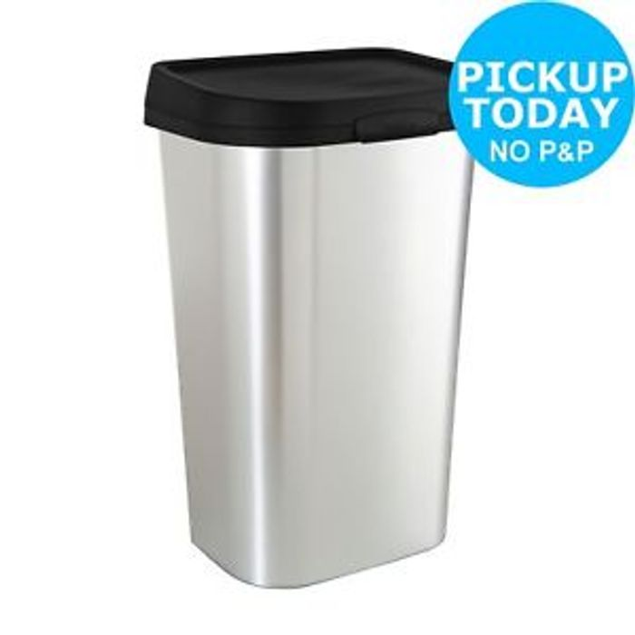 Curver Mistral 50 Litre Lift Top Bin - Silver. from Argos/ebay
