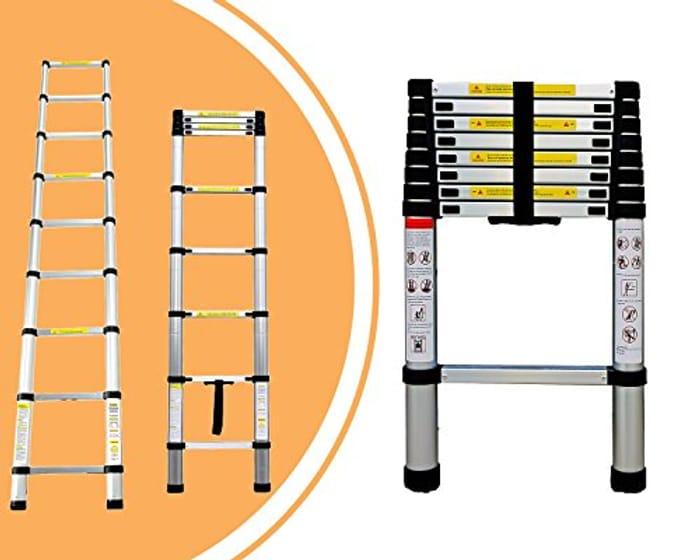 Telescopic Ladder, Extendable Ladder, 8.5 Feet