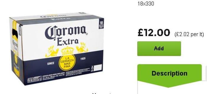 Bottled Corona 18 Pack 330ml