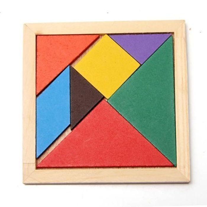 Educational Wooden Seven Piece Puzzle Jigsaw Tangram