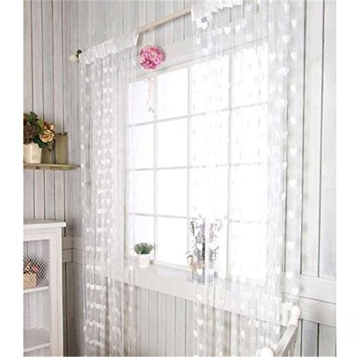 String Heart Voile Curtain 6 Colours