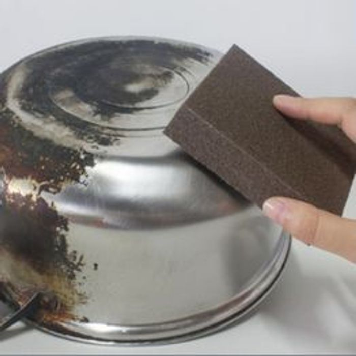 1 Pcs Large Area Carborundum Fine Flexible Descaling Clean Magic Sponge
