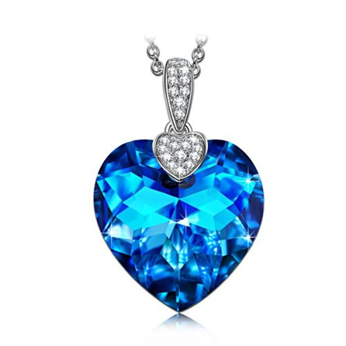 J NINA Aurora 925 Sterling Silver Heart Women Pendant Necklace