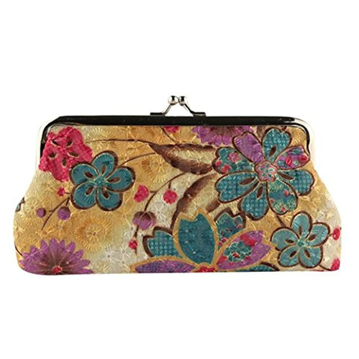 Purse, Women Lady Flower Small Wallet Hasp Purse Clutch Bag Pouch Wallet