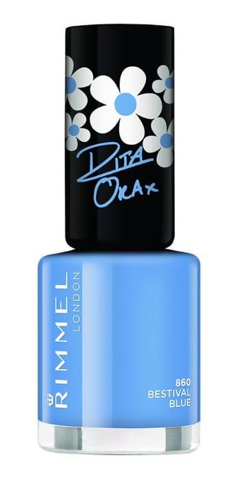 Rita Ora Rimmel Bestival Blue Nail Polish!