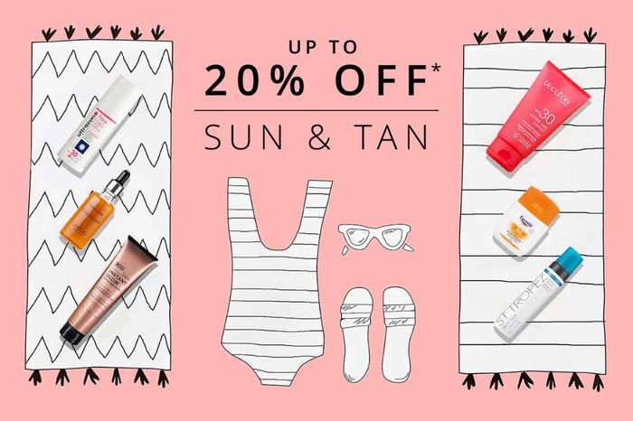 20% off 3 Sun&tan Products or 15% off 2 Sun&tan Products at FeelUnique