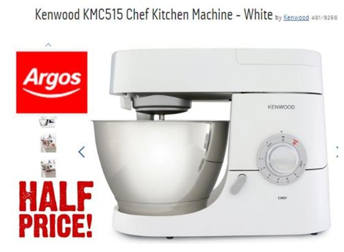 Kenwood Kmc515 Chef Kitchen Machine 149 99 At Argos