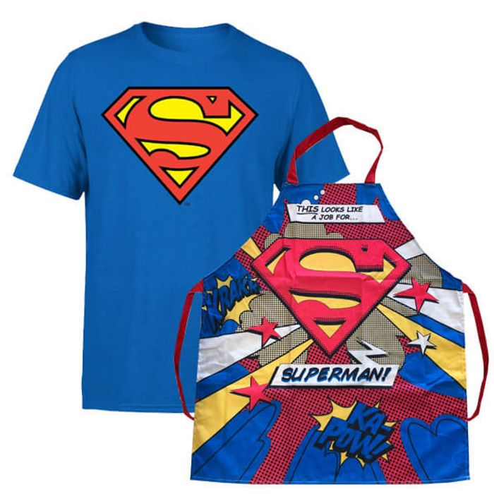 Superman T-Shirt and Apron Bundle