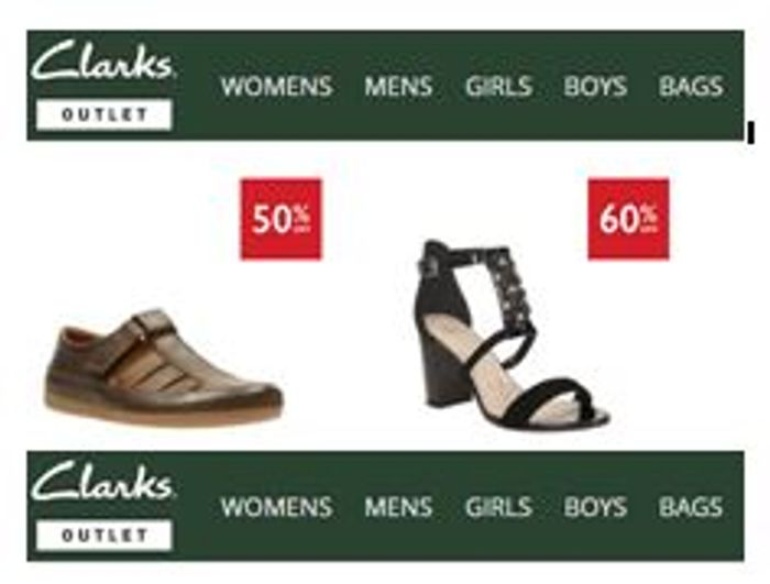 f890293183 Clarks Shoes. OUTLET SALE. 50% OFF. 60% OFF., £20 at Clarks Outlet ...