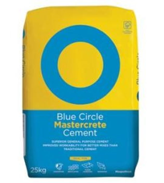 Get Blue Circle Mastercrete Cement - 25kg Only £4.30