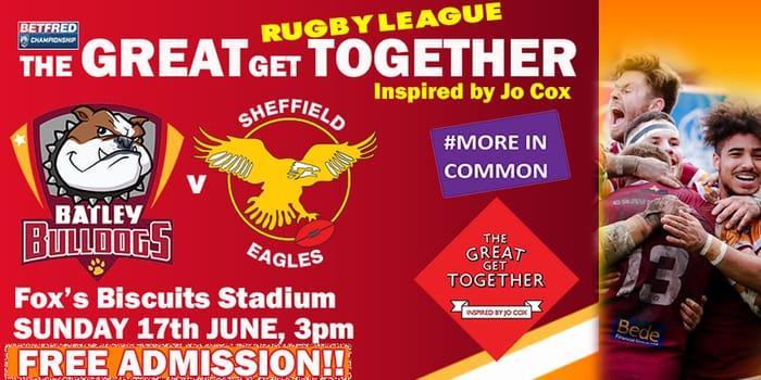 Free Rugby League - Batley Bulldogs v Sheffield Eagles 17th JUNE