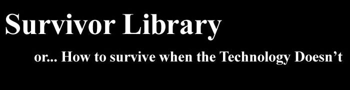 Survivor Library: A Collection of 7,000 Books on Survival (PDF/eBooks)