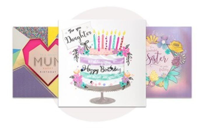 Order between 2 and 8 Cards and Get Free 1st Class Delivery at Card Factory