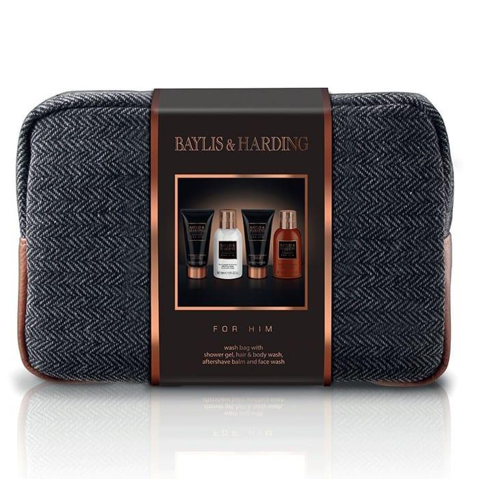 Baylis & Harding Men's Black Pepper & Ginseng Wash Bag Gift Set