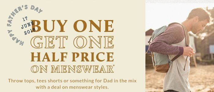 Buy One Get One Half Price on Menswear