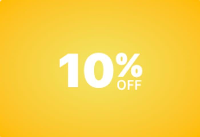 10% off eBay Departments until 8pm