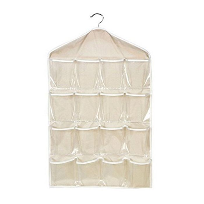 16 Lots Hanging Storage Pockets Bags Closet Space Storage (
