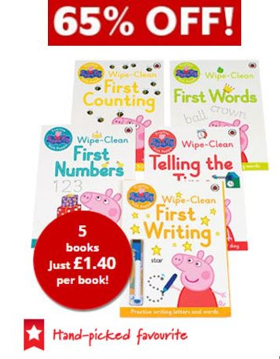 Peppa Pig: Wipe-Clean Collection - 5 Books (Collection)