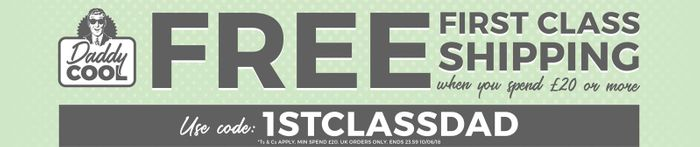 Free 1st Class Shipping When You Spend £20+
