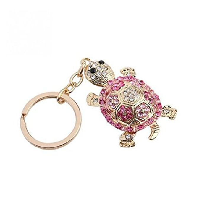 Rhinestone Tortoise Keyring - Delivery Included