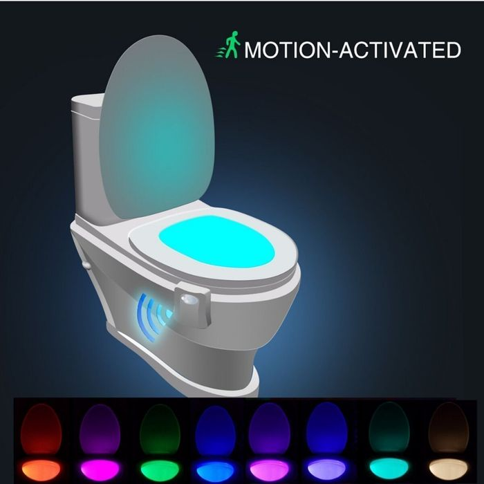 Motion Activated Toilet Night Light Free Delivery
