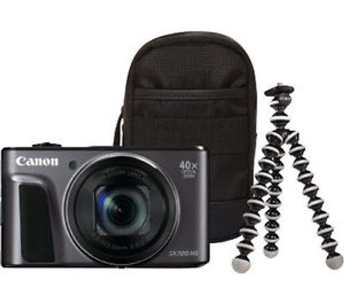 CANON PowerShot HS Superzoom Compact Camera & Travel Kit £179.99 with Code